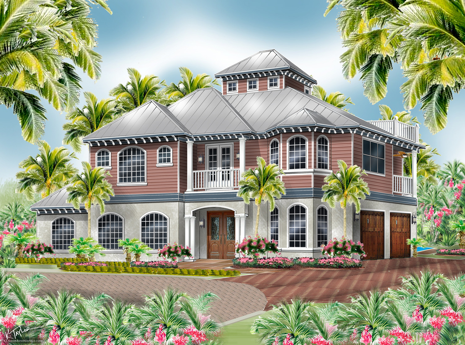 The Hemingway home rendering