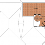 The Mallory, rooftop floor plan