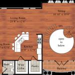 The Mallory, floor plan of third floor