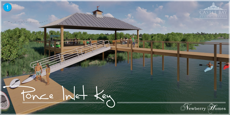 Ponce Inlet Key, dock rendering 1
