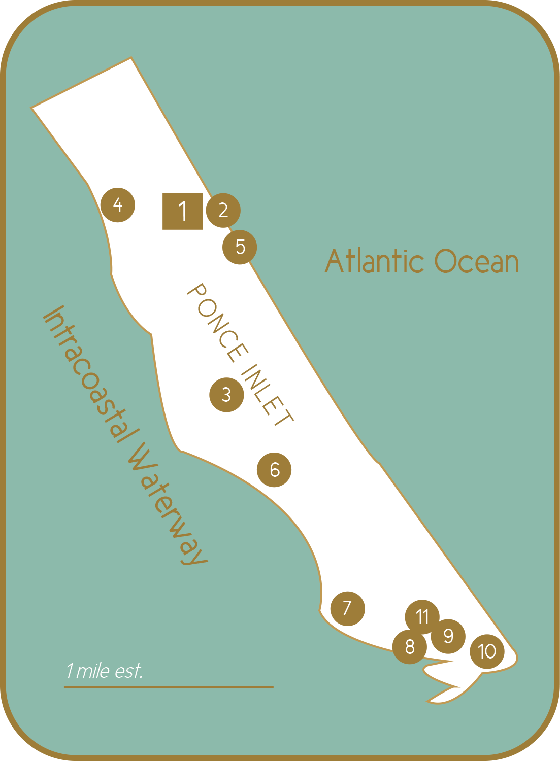 Ponce Inlet map