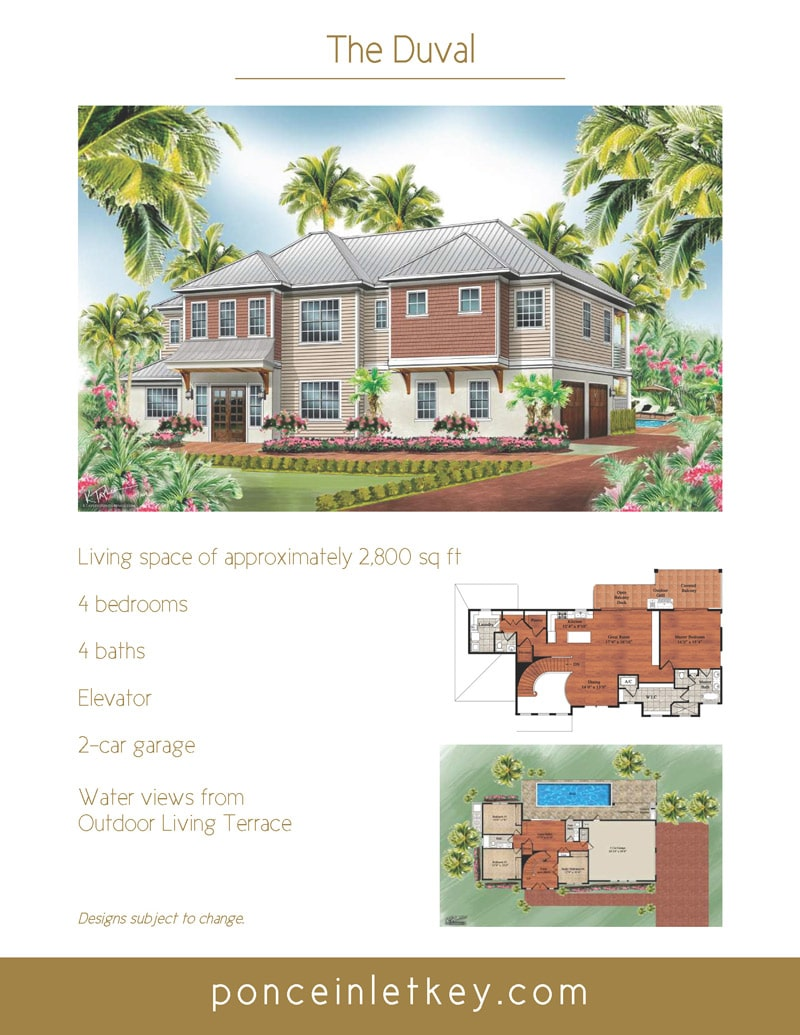 flyer for the Duval home