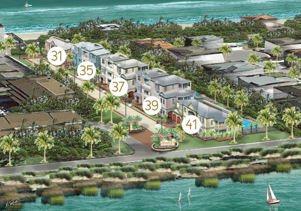 Ponce Inlet Key water views property map